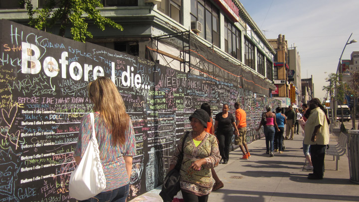 Before I die wall Candy Chang