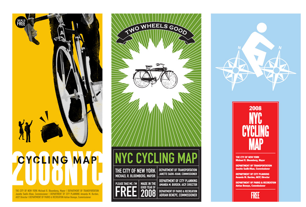 Candy Chang NYC bike map covers