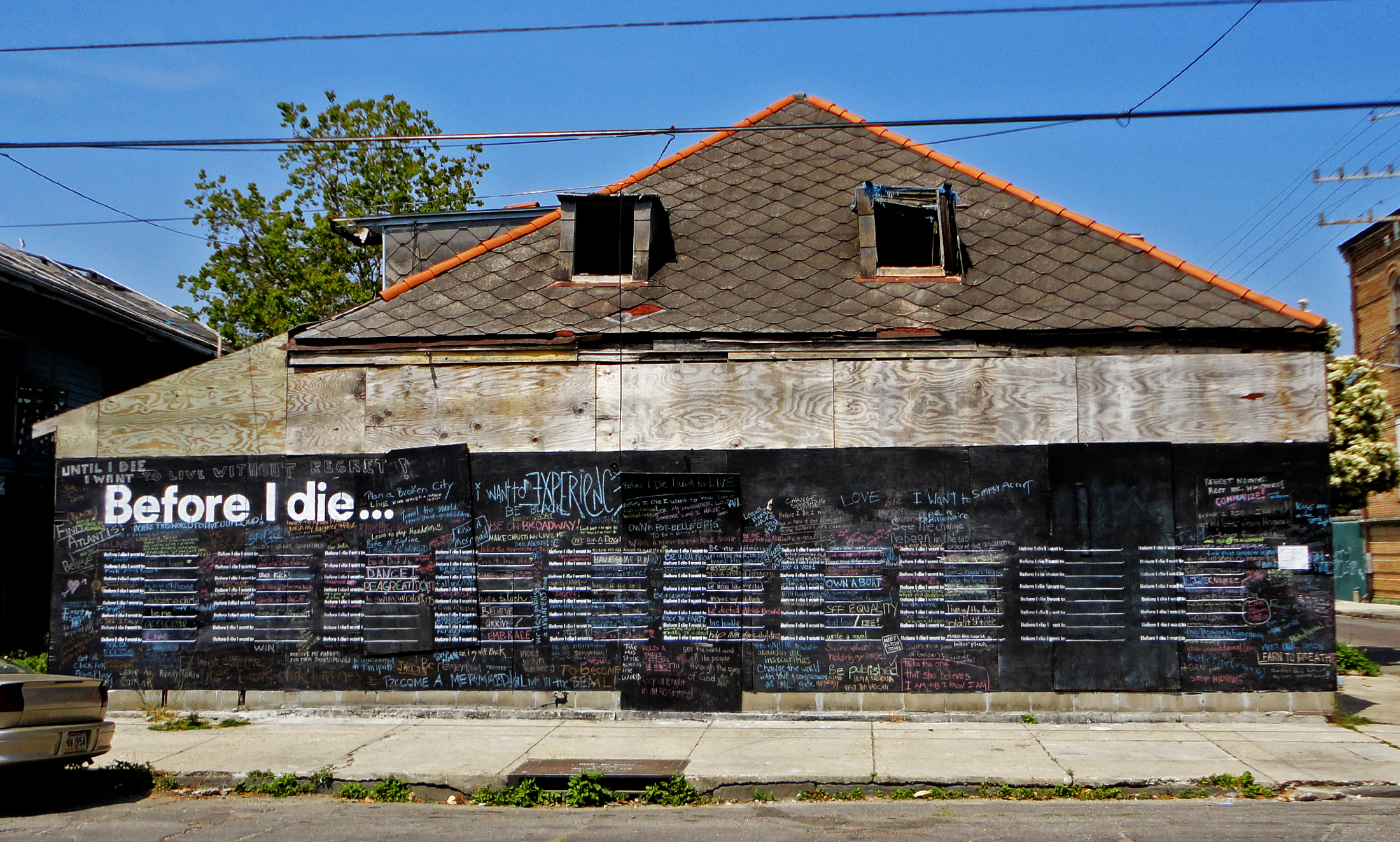 Before I Die NOLA house front